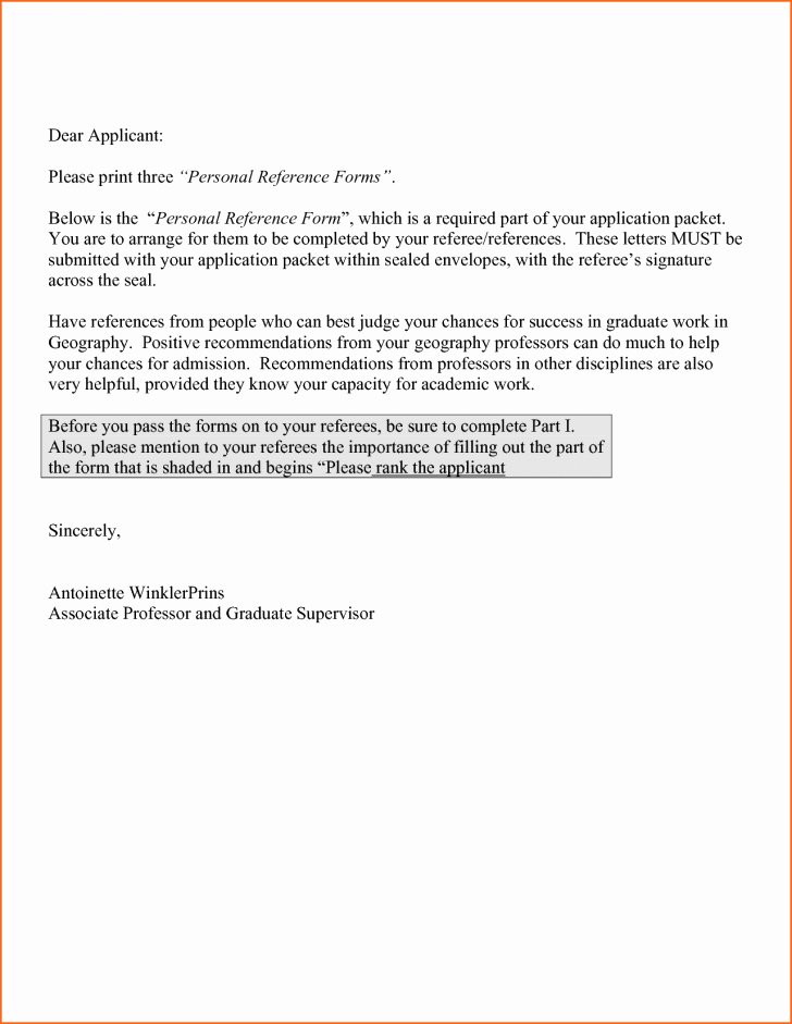 Personal Re Mendation Letter Letter Trakore Document