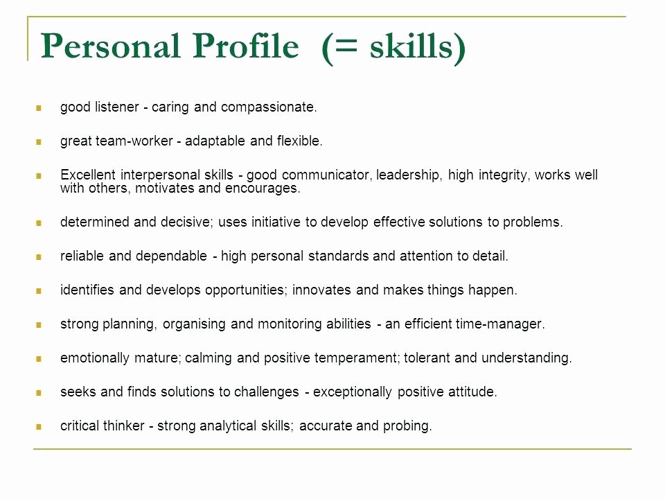 Personal Skills Resume Samples for A Examples Resumes