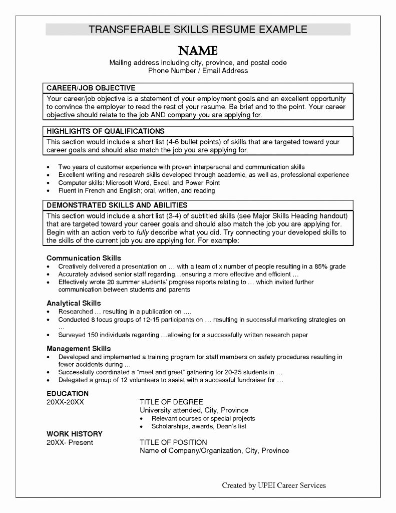 Personal Skills to Put A Resume Resume Ideas