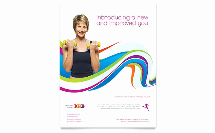 Personal Trainer Flyer Template Design