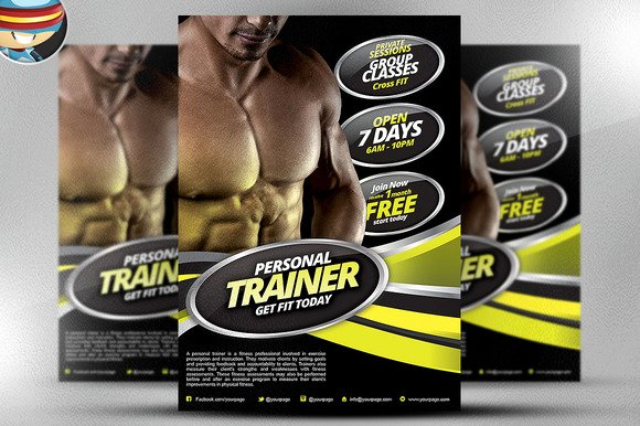 Personal Trainer Flyer Template Free Designtube