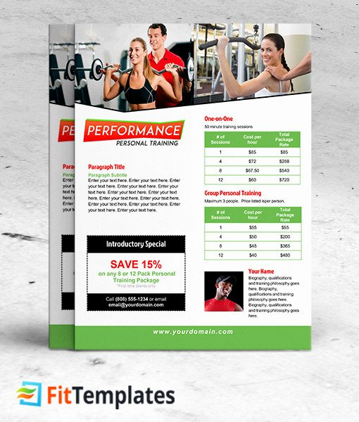 Personal Training Flyer Design Yourweek Eca25e