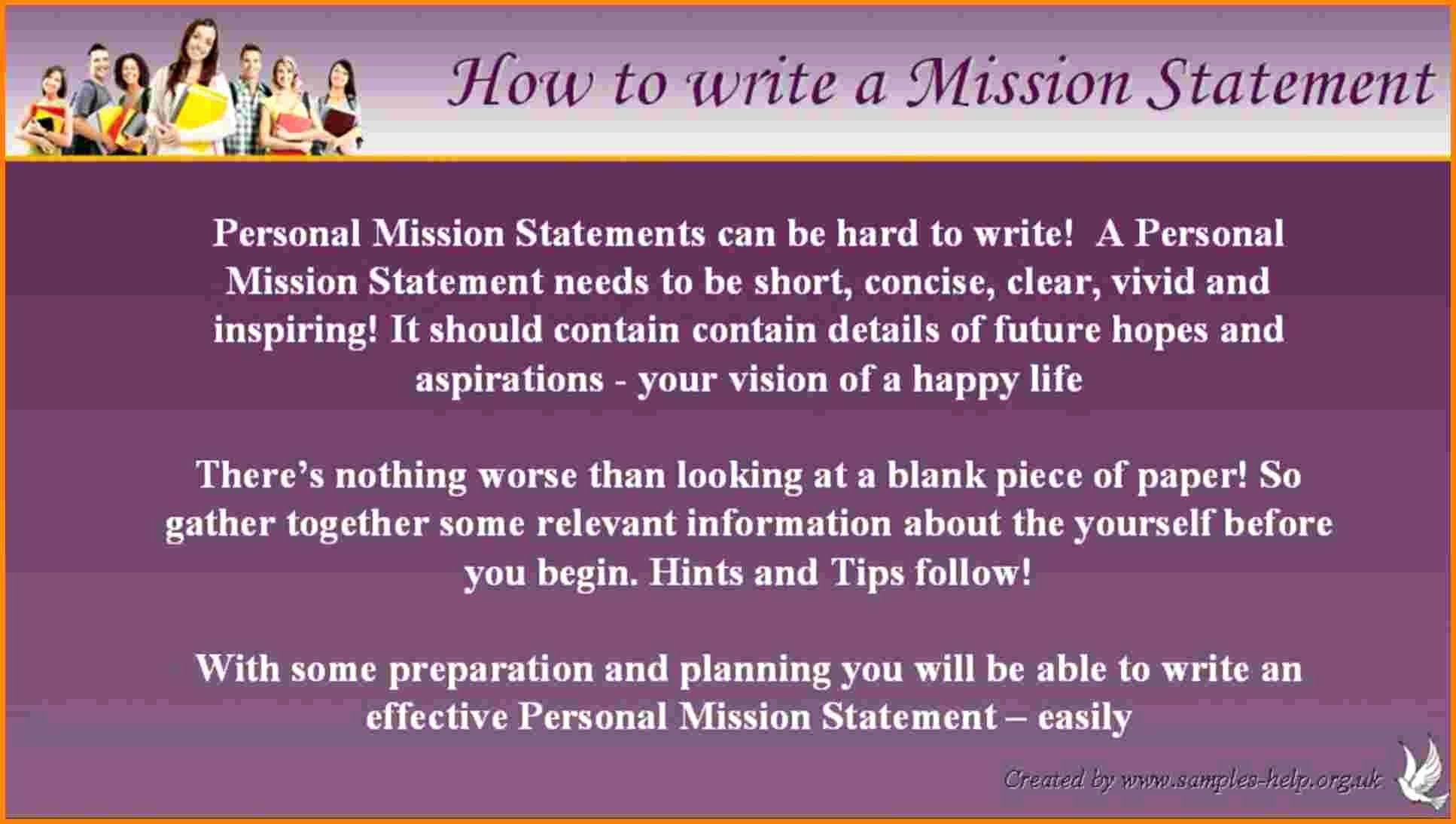 Personal Vision Statement Worksheet