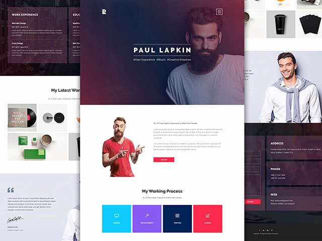 Personal Website Psd Template 2 Freebiesbug