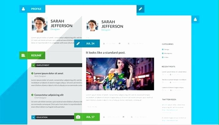 Personal Website Resume Template Blog Resume Portfolio
