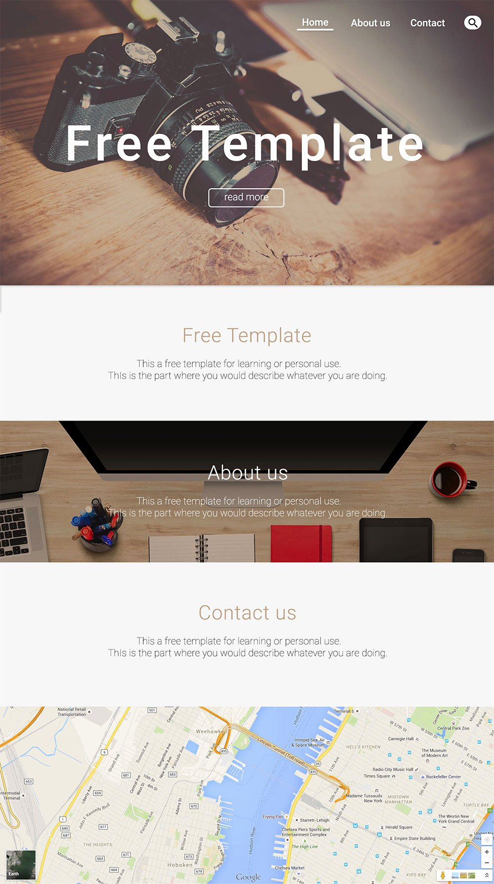 Personal Website Template Free Psd 72pxdesigns