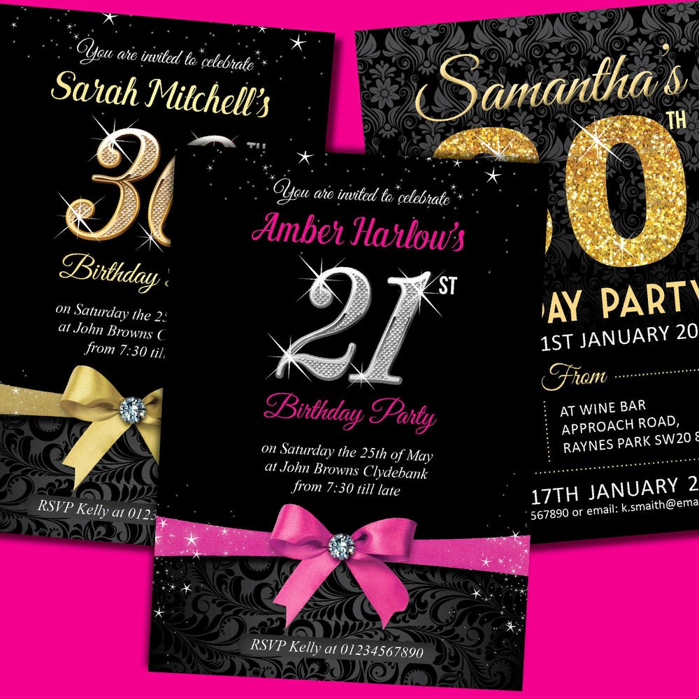 Personalised Birthday Invitations Party Invites 18th