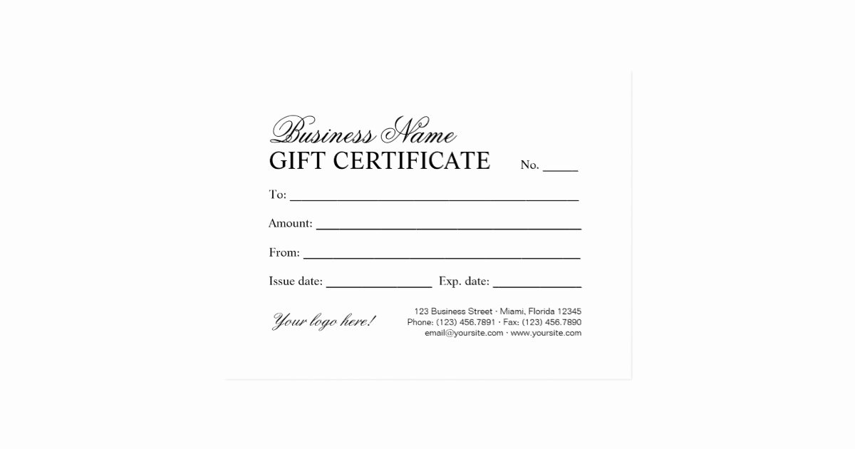 Personalized Christmas Gift Certificate Template Postcard