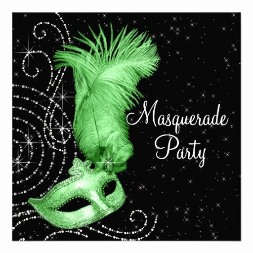 Personalized Elegant Masquerade Party Invitations