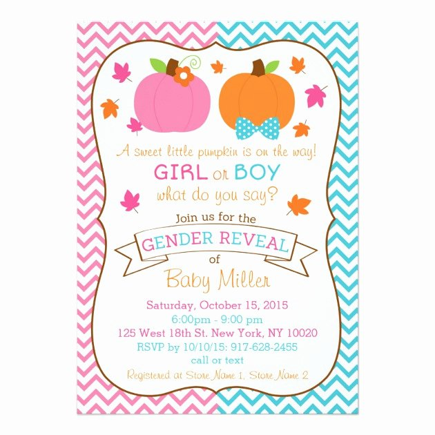 Personalized Gender Reveal Invitations