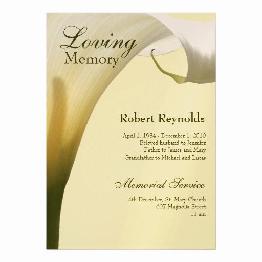 Personalized In Memoriam Invitations