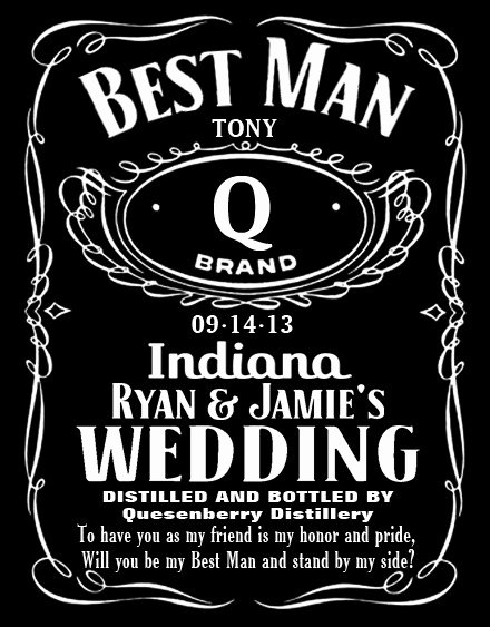 Personalized Label Design In Jack Daniels Style
