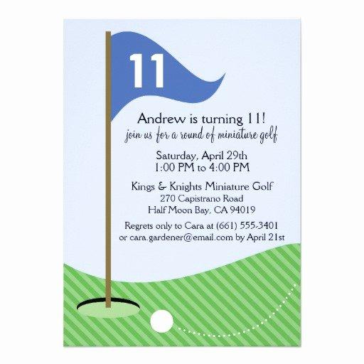 Personalized Mini Golf Invitations