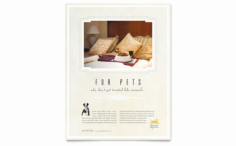 Pet Hotel & Spa Flyer Template Word & Publisher