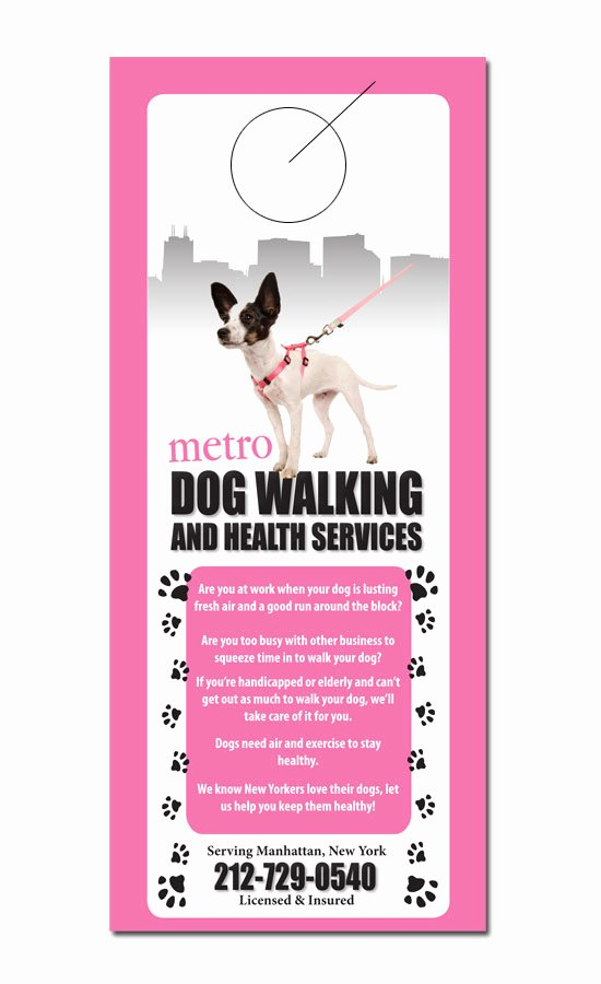 Pet Service Door Hanger Samples