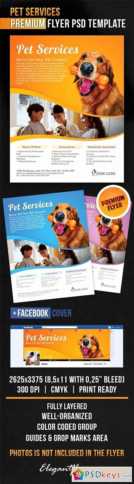 Pet Services Flyer Psd Template Cover Free