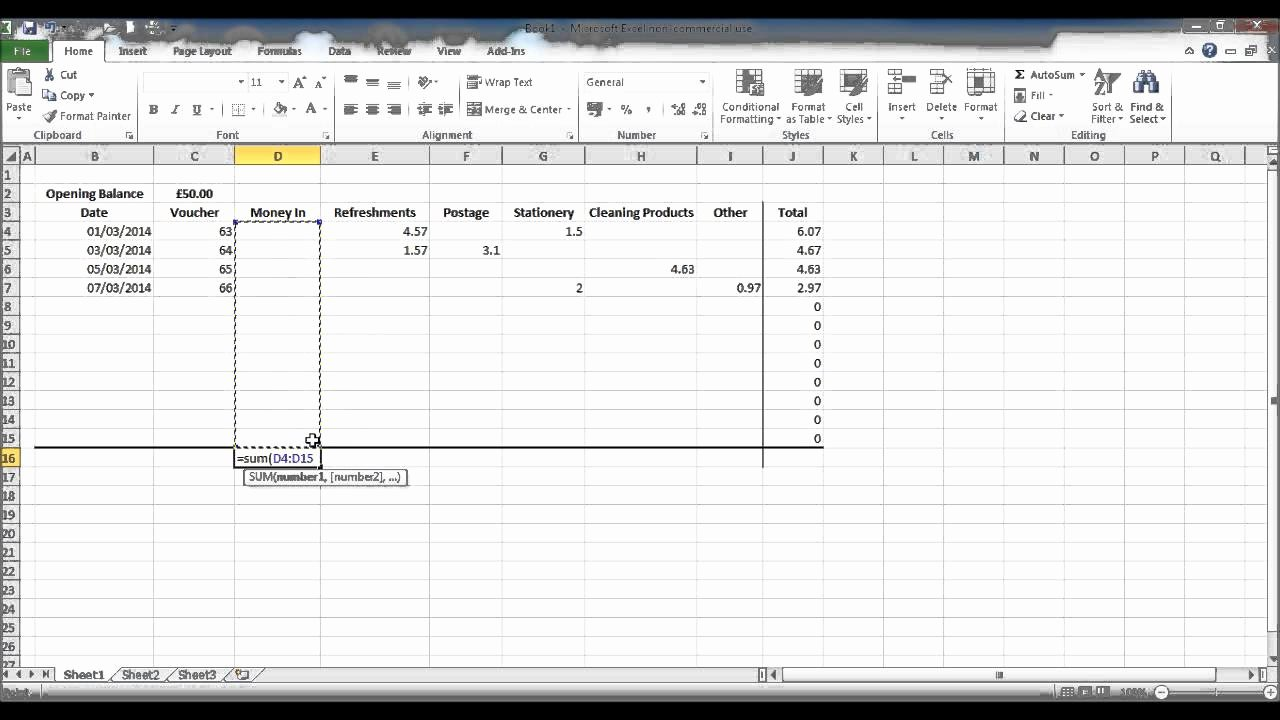 Petty Cash Count Sheet Excel How to Create A Petty Cash