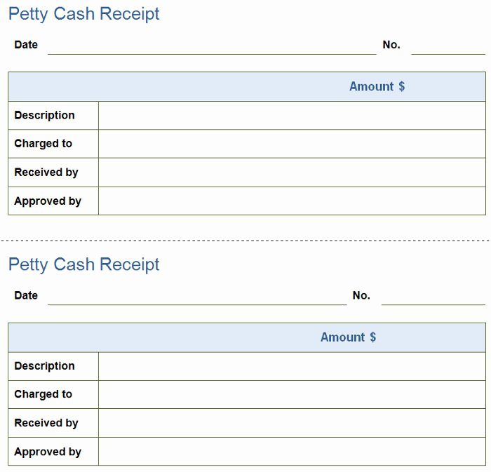 Petty Cash Receipt 2 Petty Cash Receipt Template