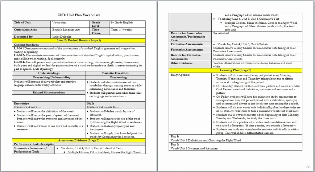 Pges Lesson Plan Template Printable Lesson Plan Template