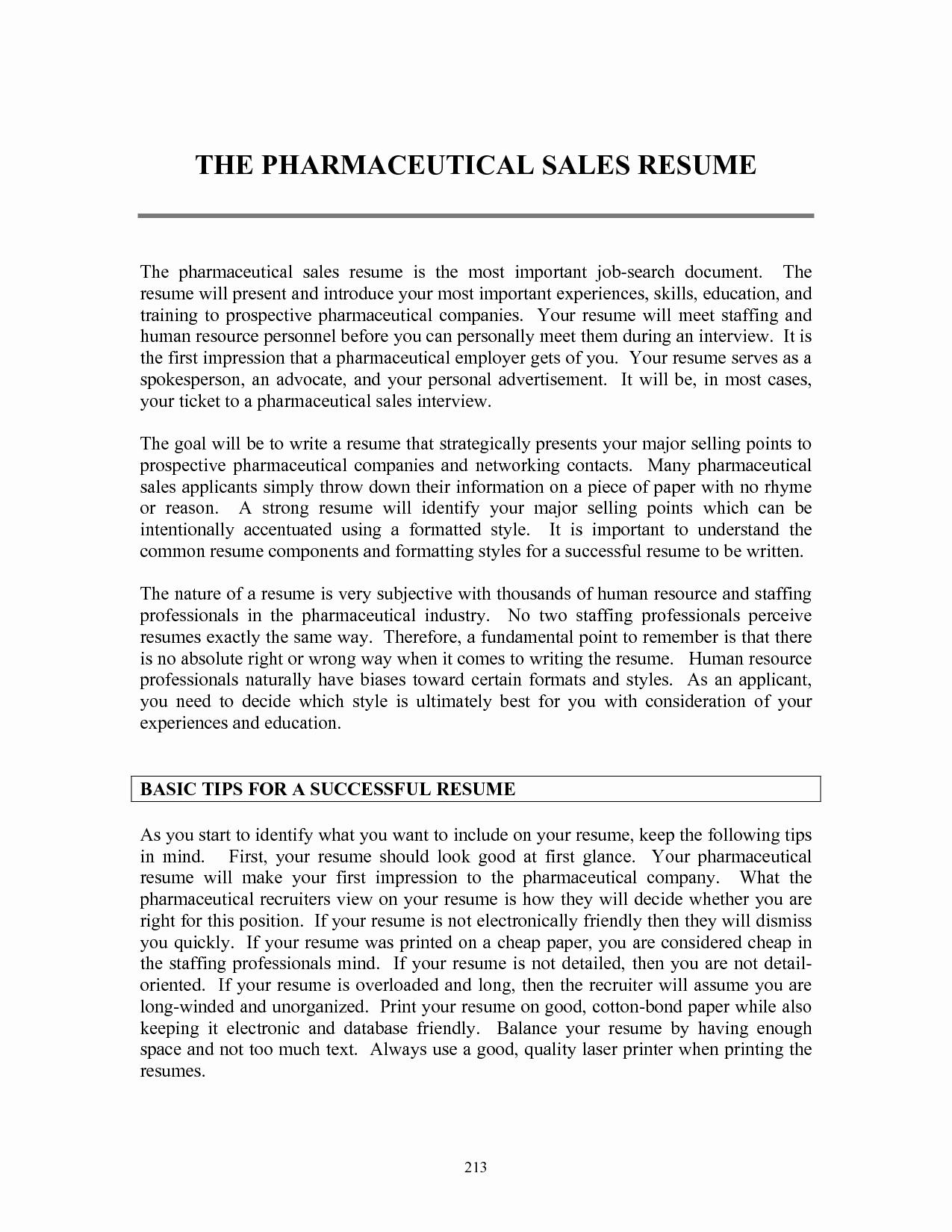 Pharmaceutical Rep Resume Sidemcicek