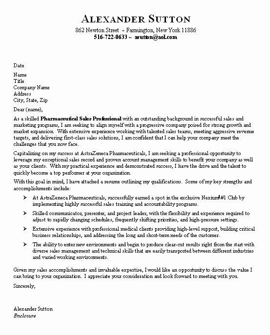 Pharmaceutical Sales Entry Level Resume