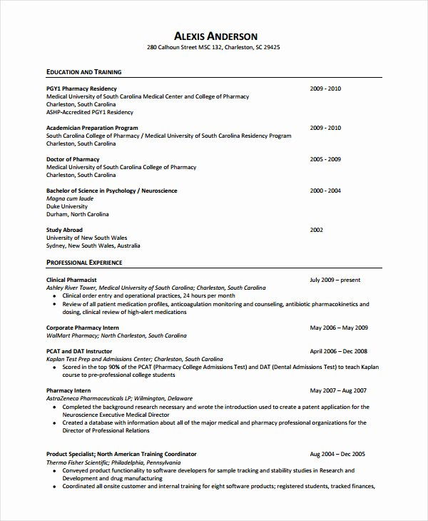 Pharmacist Resume F Resume