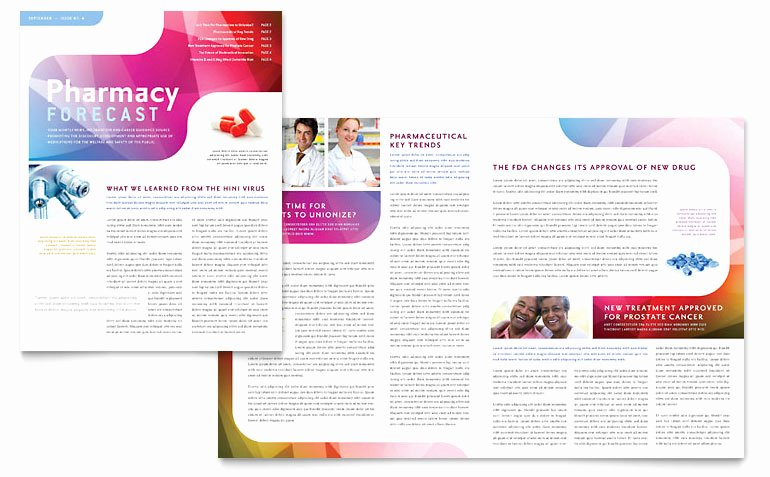 Pharmacy School Newsletter Template Word & Publisher