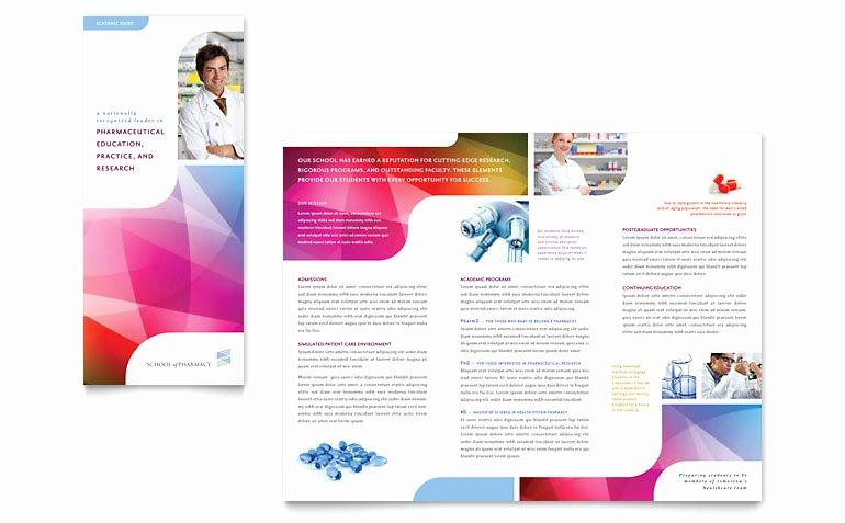 Pharmacy School Tri Fold Brochure Template Word & Publisher