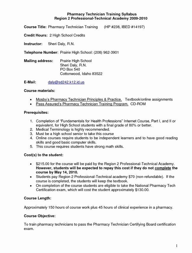 Pharmacy Technician Resume Sample No Experience