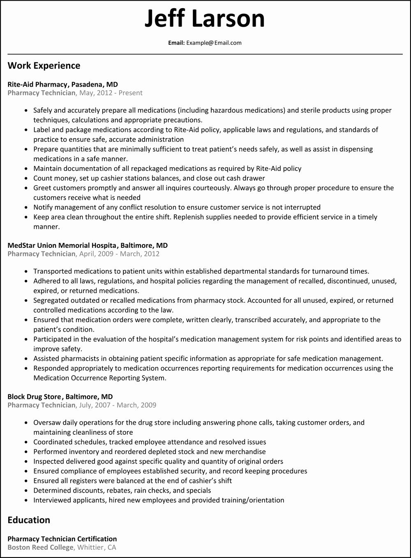 Pharmacy Technician Resume Skills