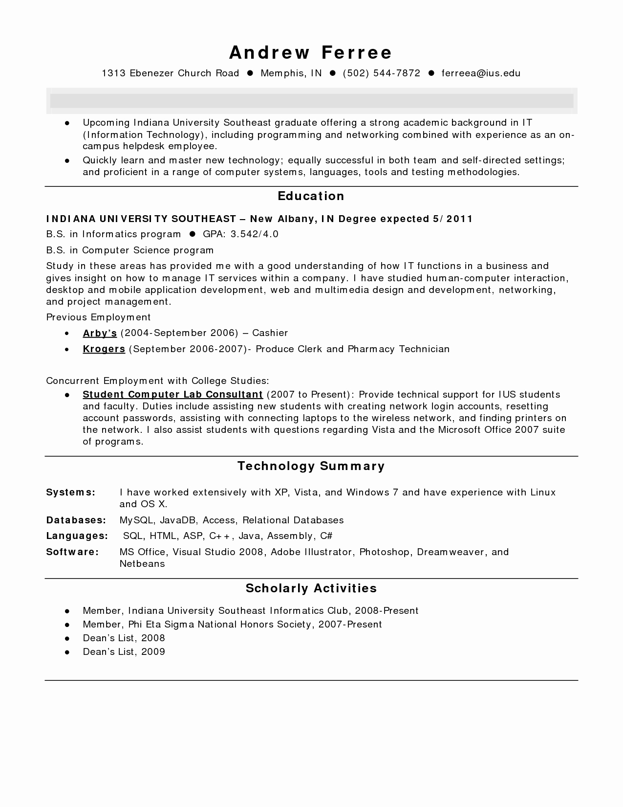 Pharmacy Technician Resume Summary Resume Ideas