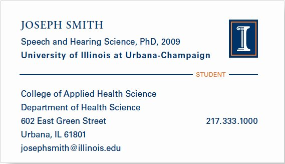 Phd Business Card for Ph D Student What Should Be