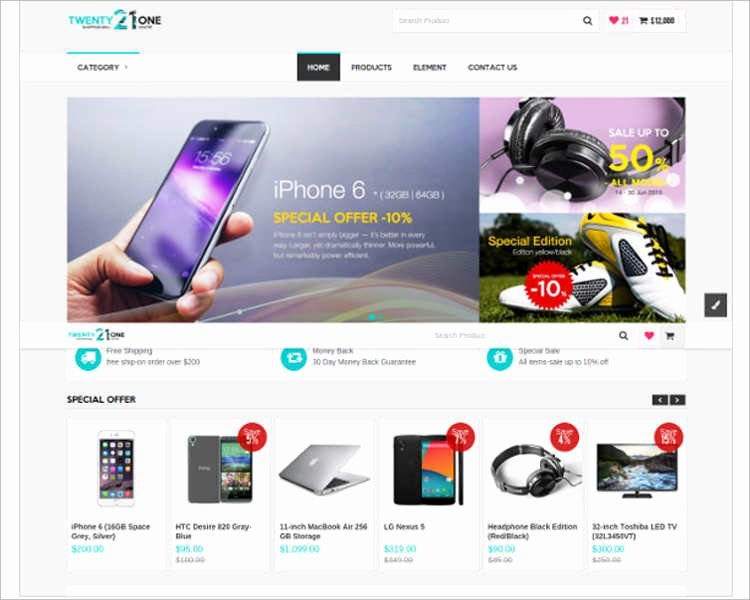Php E Merce Website Templates Free & Premium