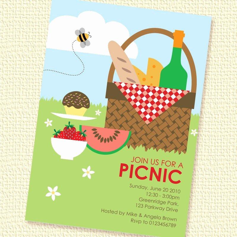 Picnic Basket Printable Custom Personalized Invitation