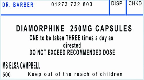 Pill Bottle Label