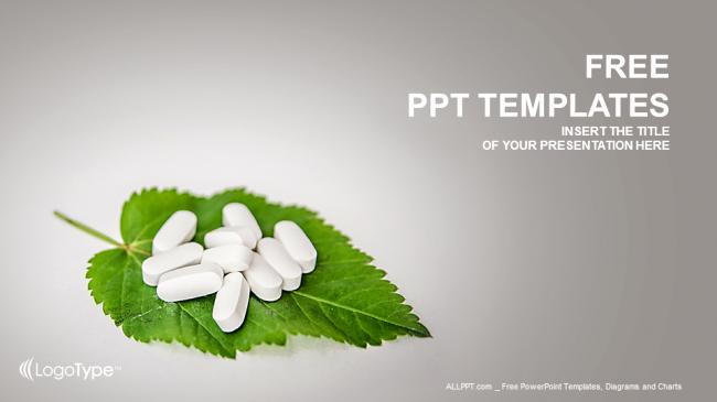 Pills the Leaf Medical Ppt Templates