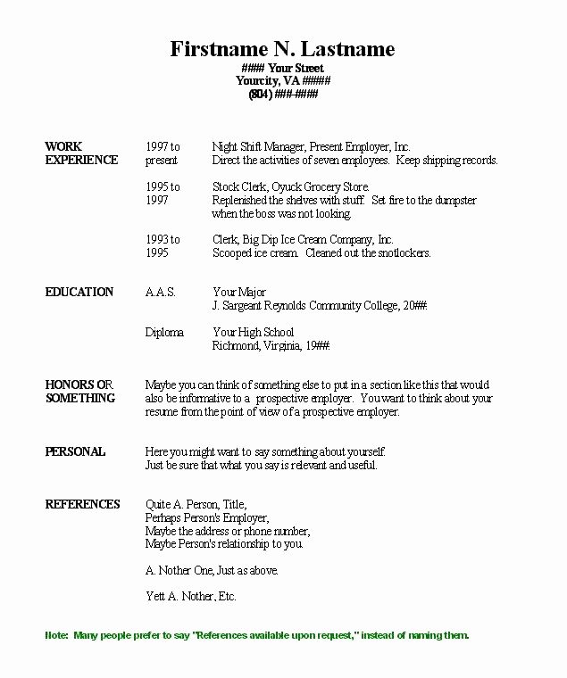 Pin Blank Resume Fill In Pdf