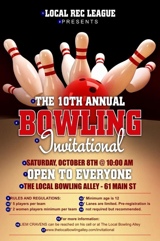 Pin Bowling Fundraiser On Pinterest