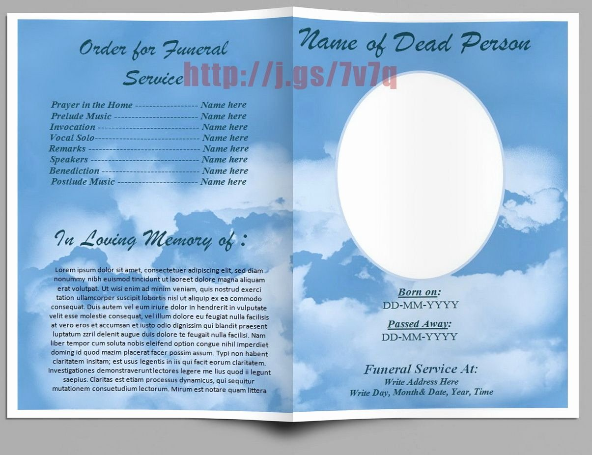 Pin by Sam Bither On Funeral Program Templates for Ms Word