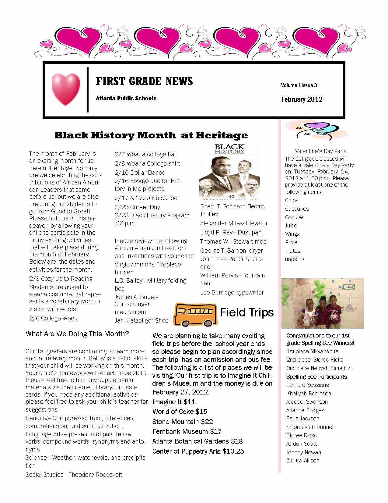 Pin First Grade Newsletter Templates Free Image Search