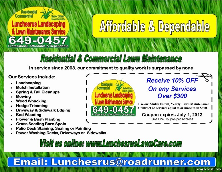 Pin Lawn Mowing Flyers On Pinterest