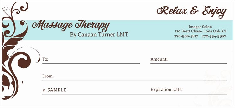 Pin Massage Gift Certificates the Perfect Present