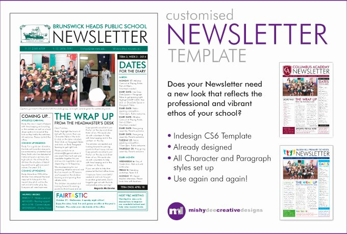 Pin Newsletter Templates Indesign On Pinterest