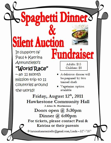 Pin Spaghetti Dinner Fundraiser Flyer Template On Pinterest
