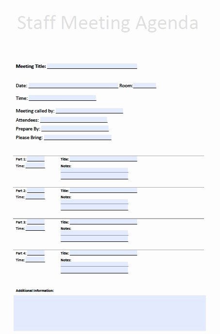 Pin Staff Meeting Template On Pinterest
