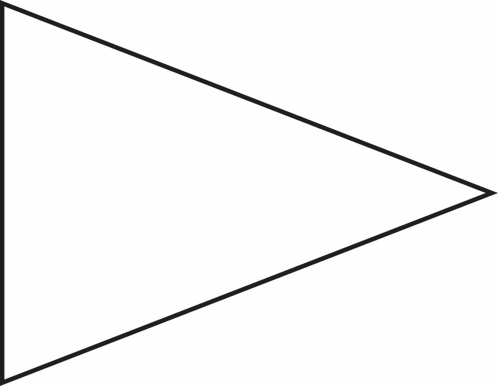 Pin Triangle Flag Outline Clip Art Vector Line Royalty