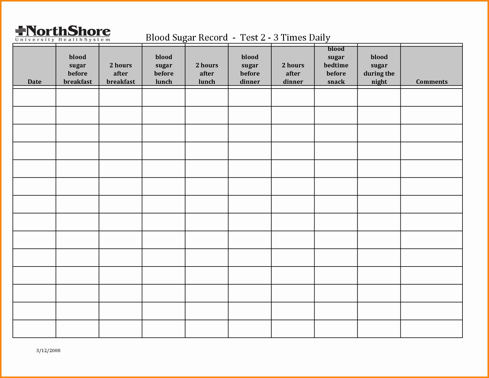 Pin Weekly Blood Glucose Log Sheet On Pinterest