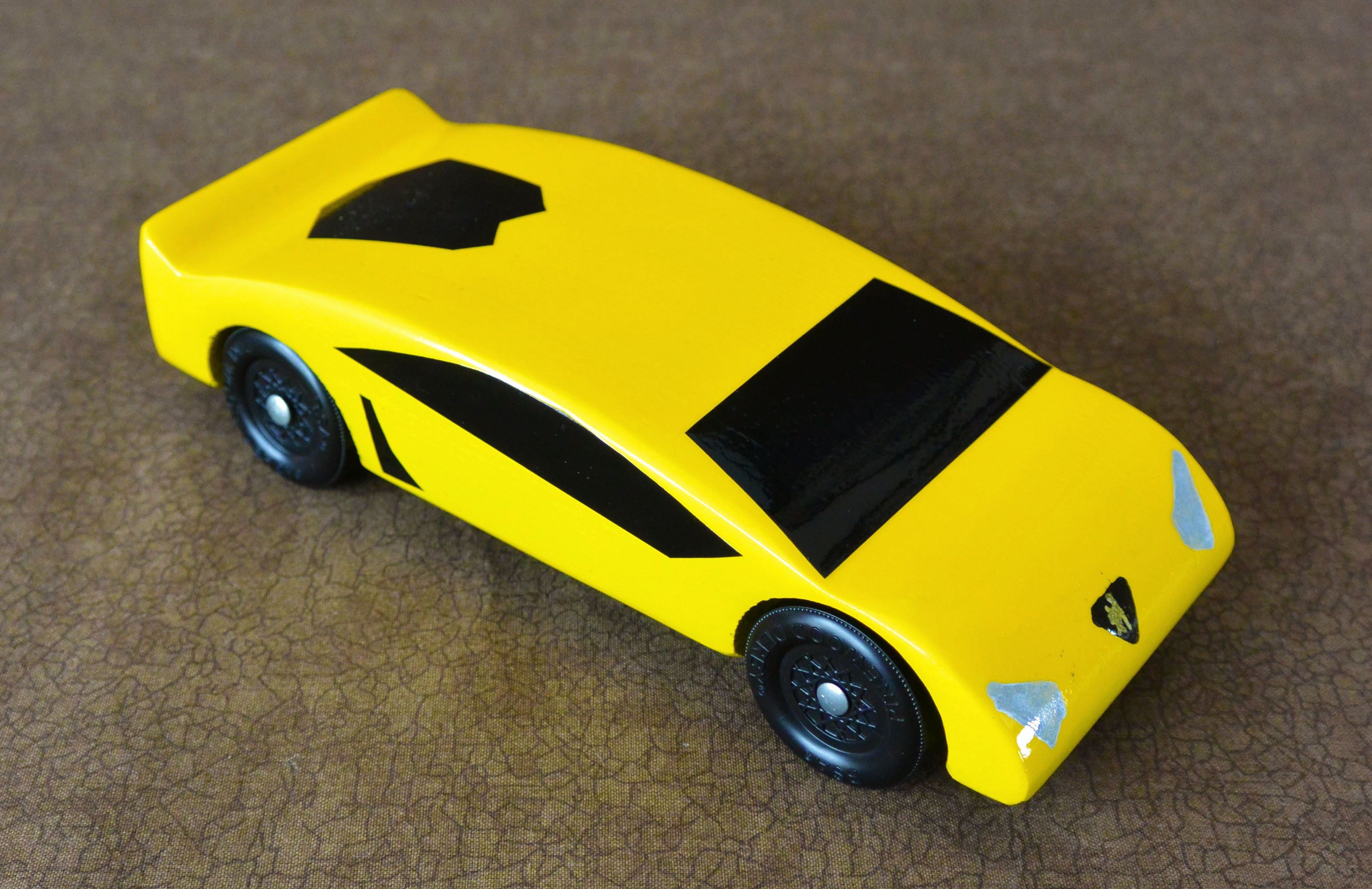 Pinewood Derby Camaro Yellow