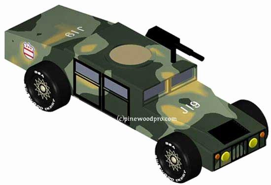Pinewood Derby Car Design Army Humvee