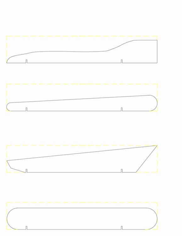 Pinewood Derby Car Templates Printable